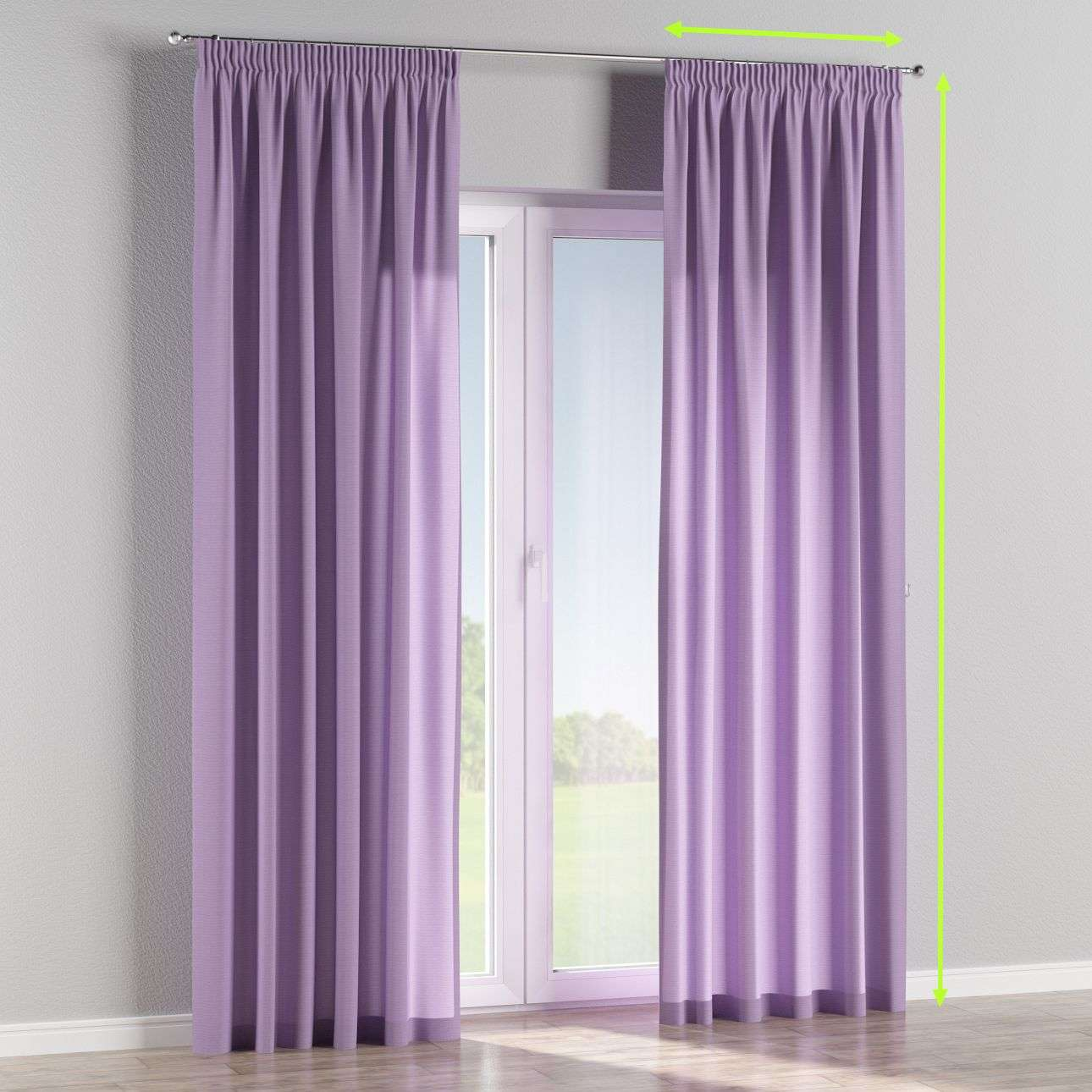 Pencil pleat lined curtains in collection Jupiter, fabric: 127-74