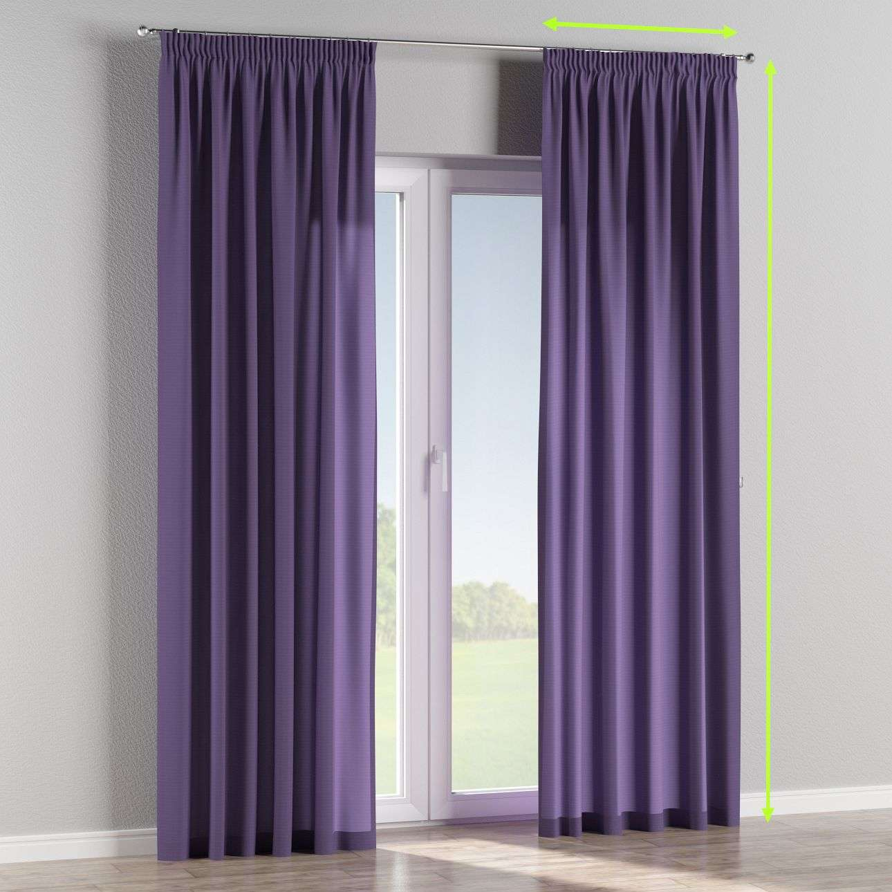 Pencil pleat lined curtains in collection Jupiter, fabric: 127-75