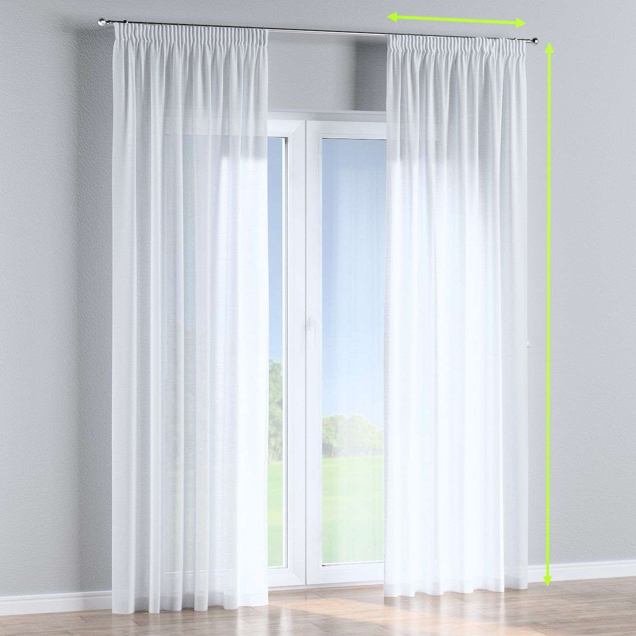 Pencil pleat lined curtains in collection Romantica, fabric: 128-77