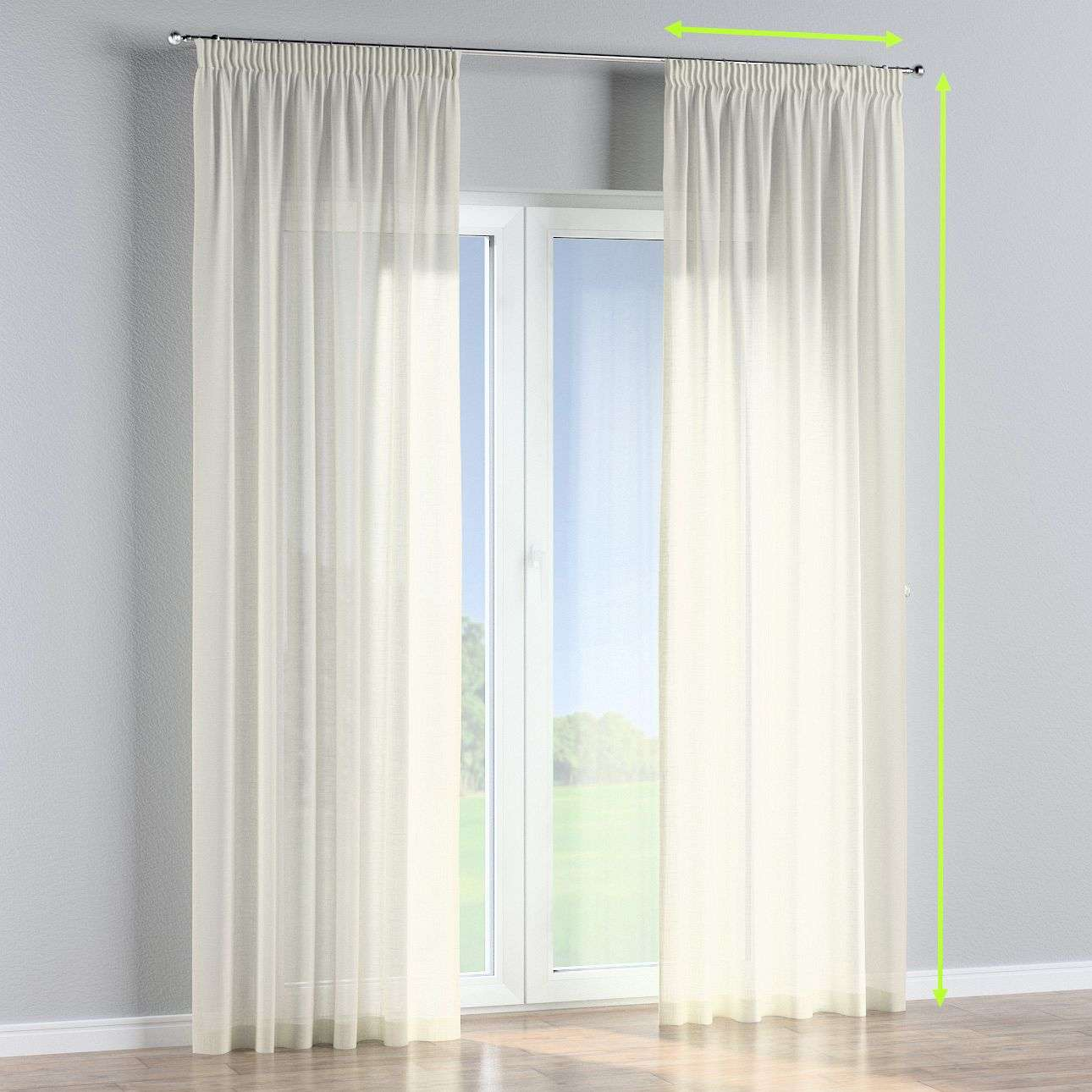Pencil pleat lined curtains in collection Romantica, fabric: 128-88