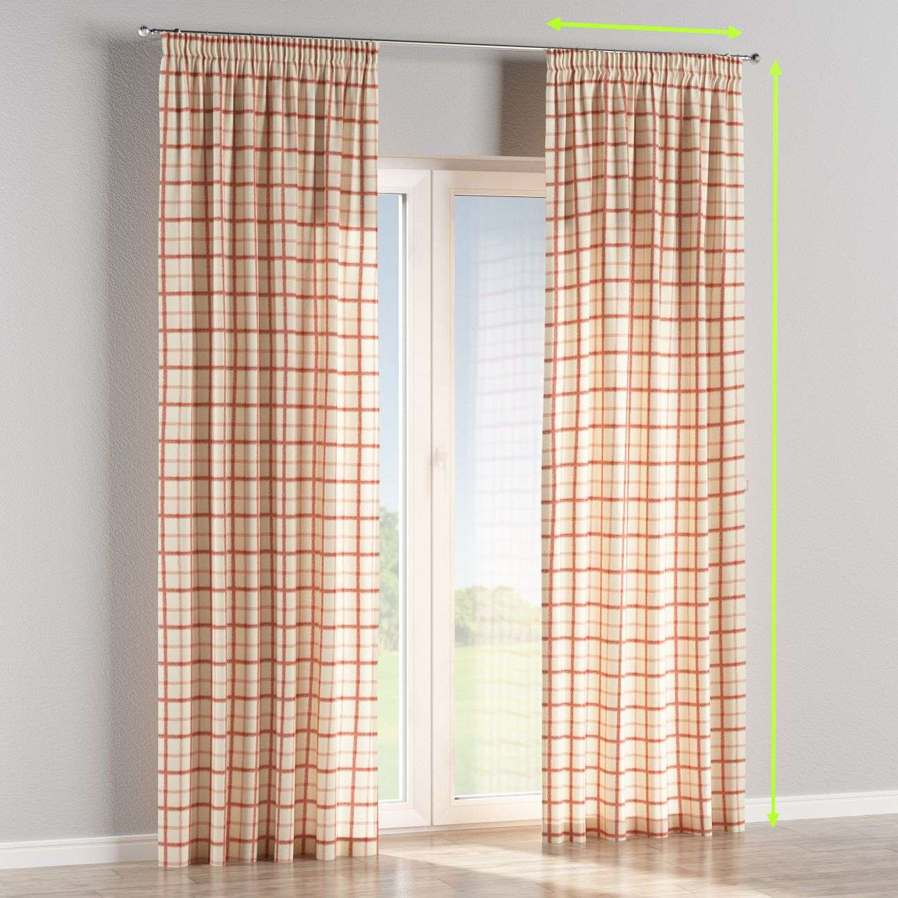 Pencil pleat lined curtains in collection Avinon, fabric: 131-15