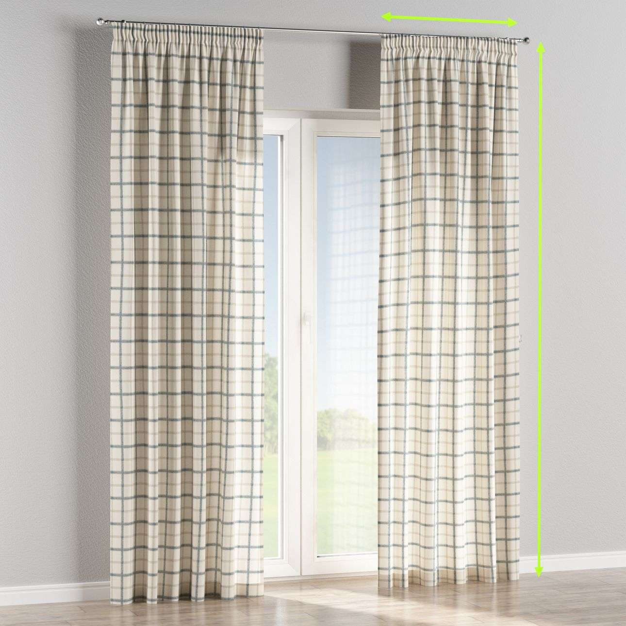 Pencil pleat lined curtains in collection Avinon, fabric: 131-66