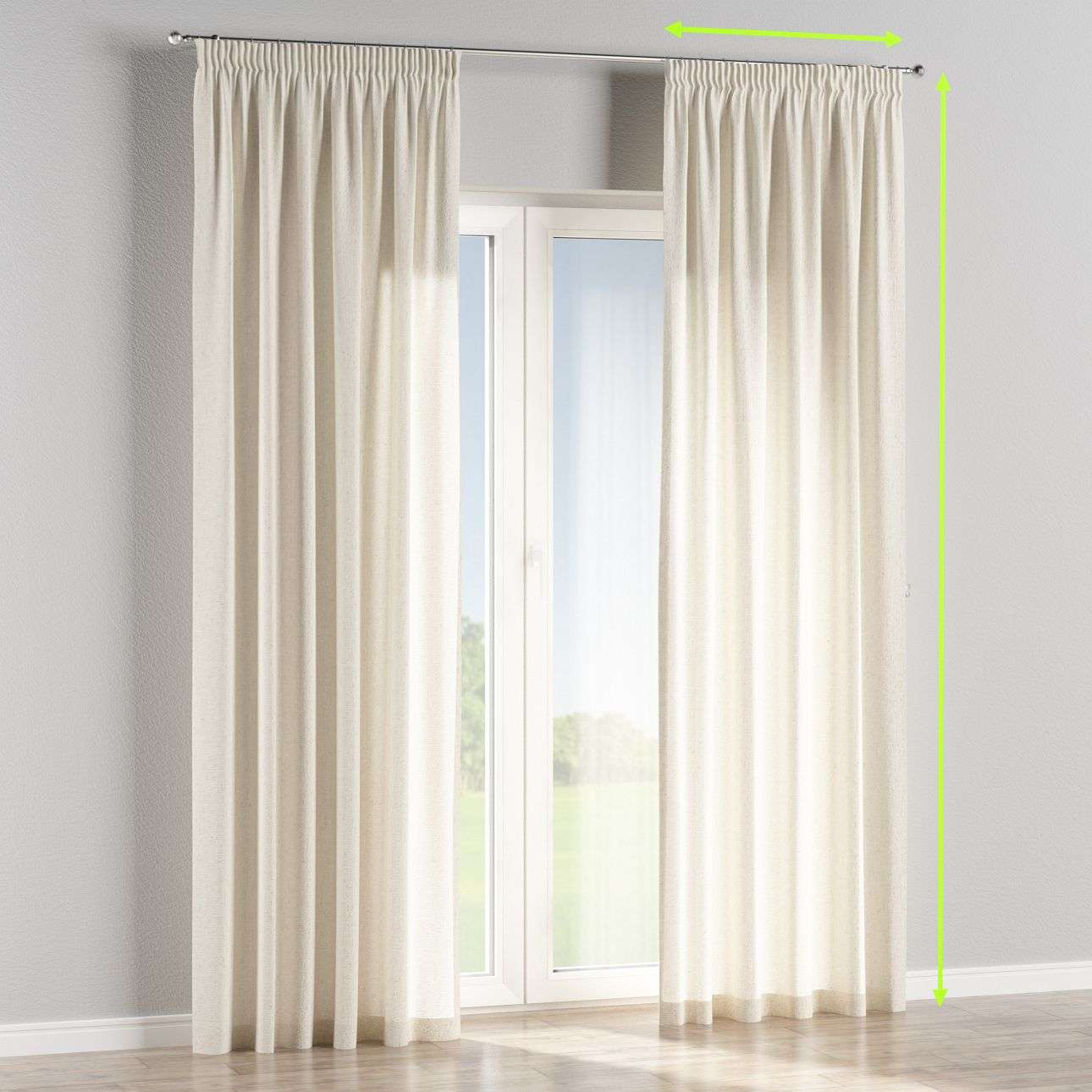 Pencil pleat lined curtains in collection Loneta , fabric: 133-01
