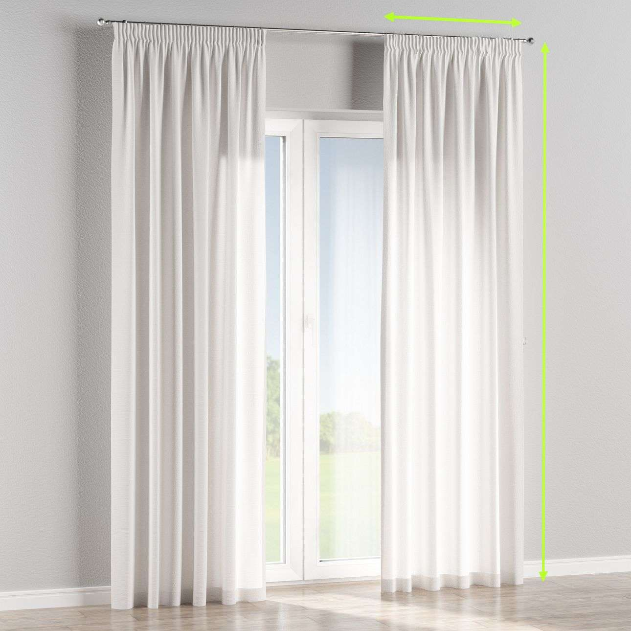 Pencil pleat lined curtains in collection Loneta , fabric: 133-02