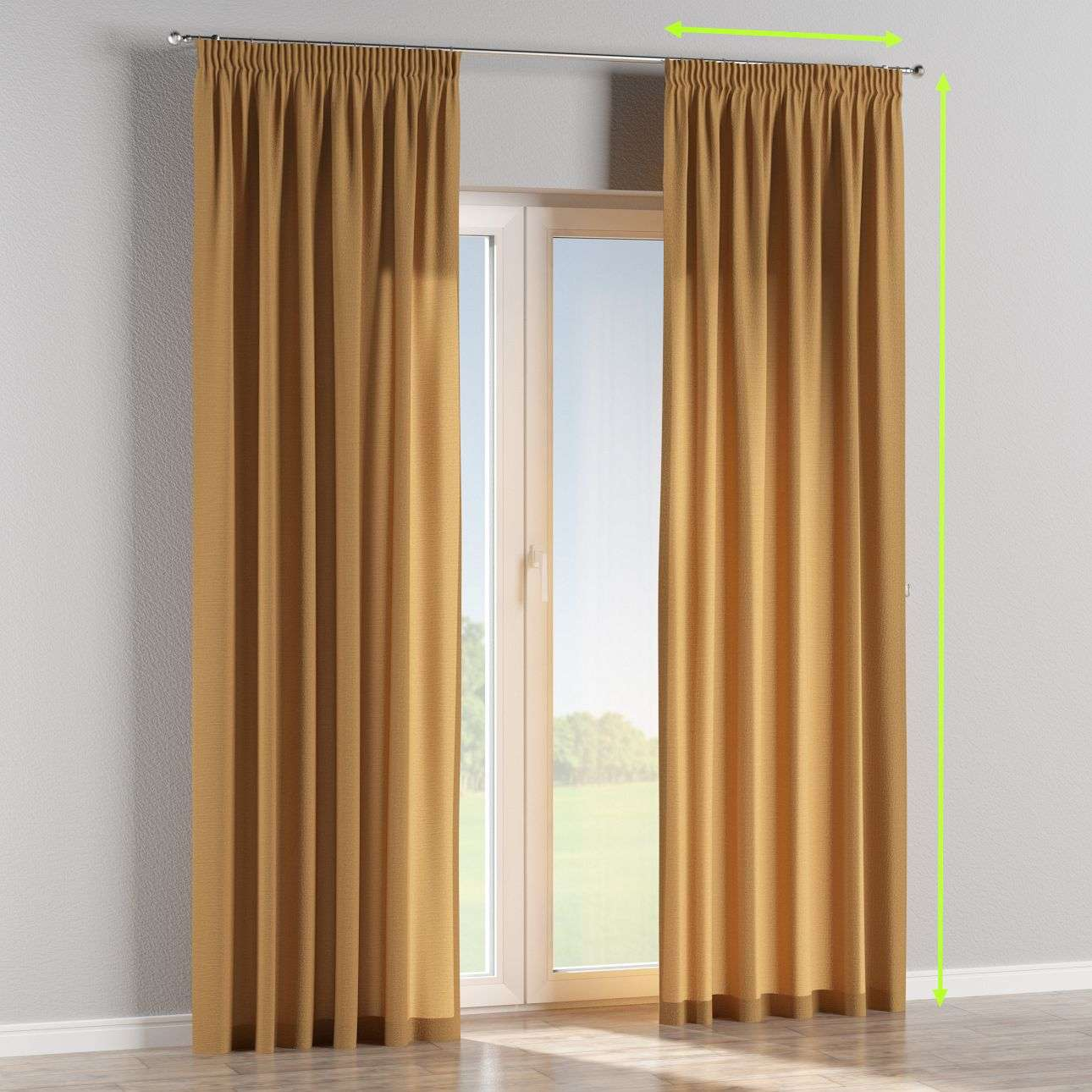 Pencil pleat lined curtains in collection Loneta , fabric: 133-12