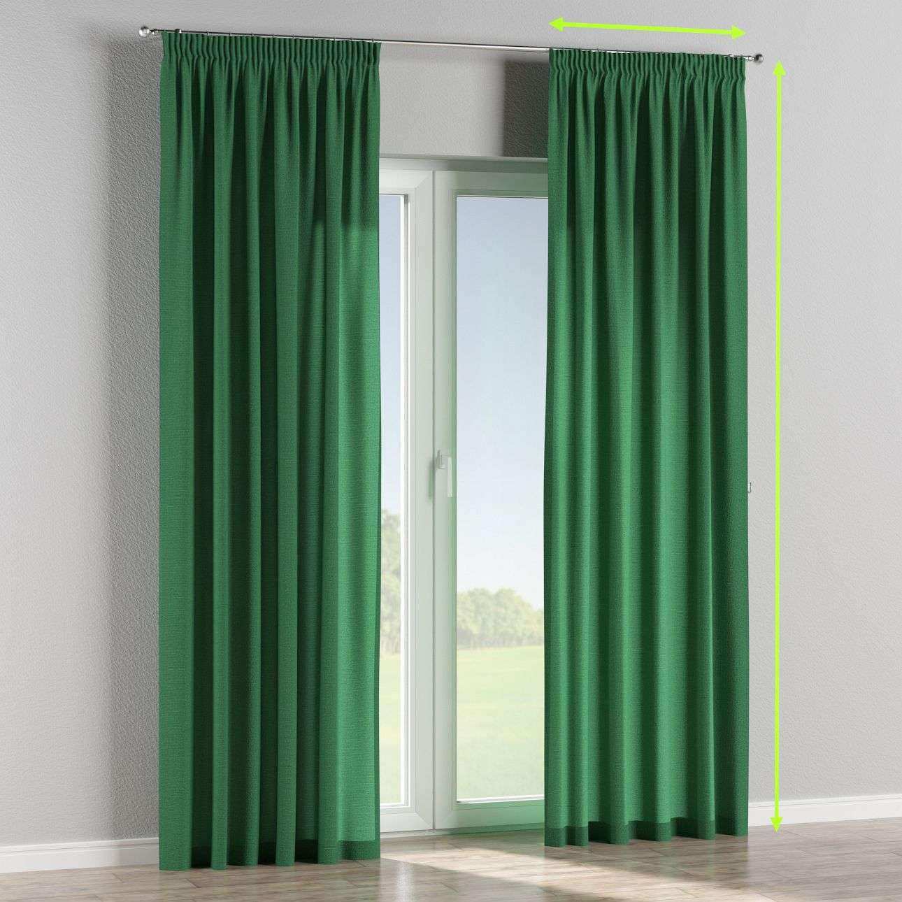 Pencil pleat lined curtains in collection Loneta , fabric: 133-18