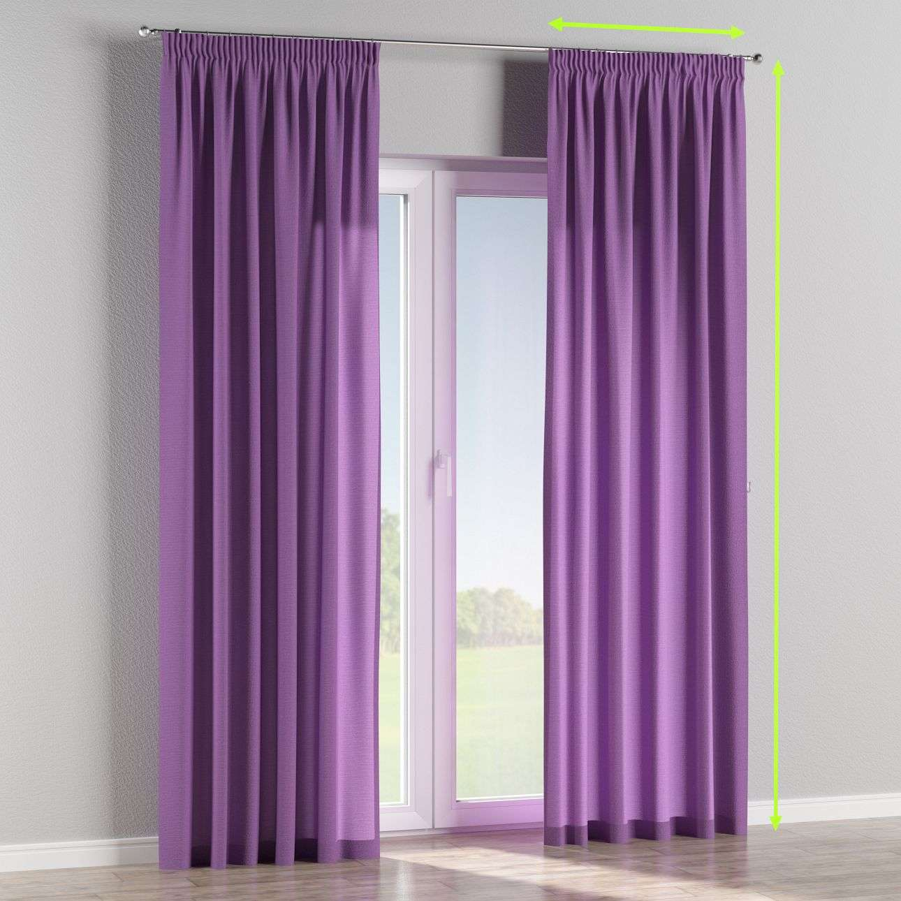 Pencil pleat lined curtains in collection Loneta , fabric: 133-19