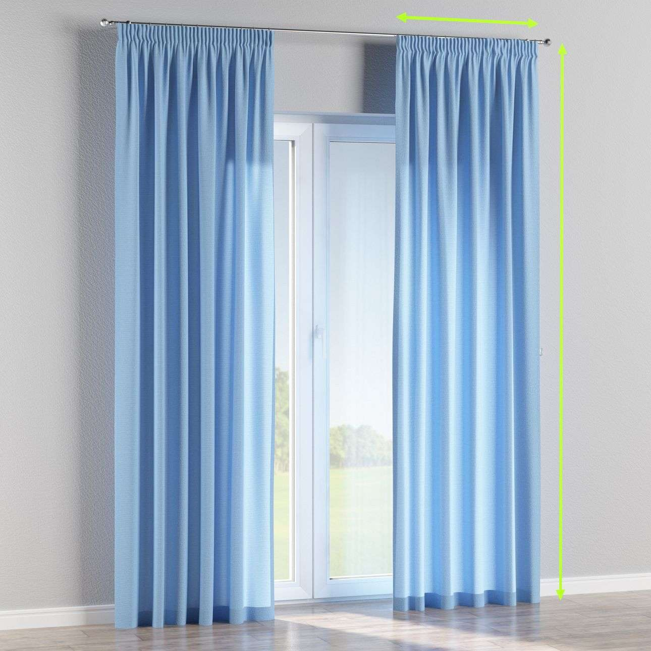 Pencil pleat lined curtains in collection Loneta , fabric: 133-21