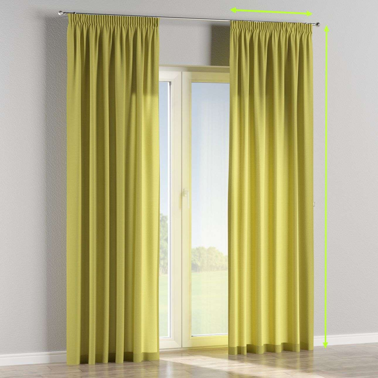 Pencil pleat lined curtains in collection Loneta , fabric: 133-23