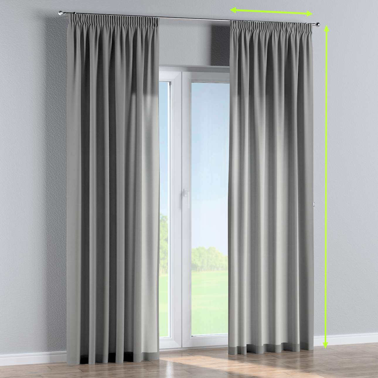Pencil pleat lined curtains in collection Loneta , fabric: 133-24