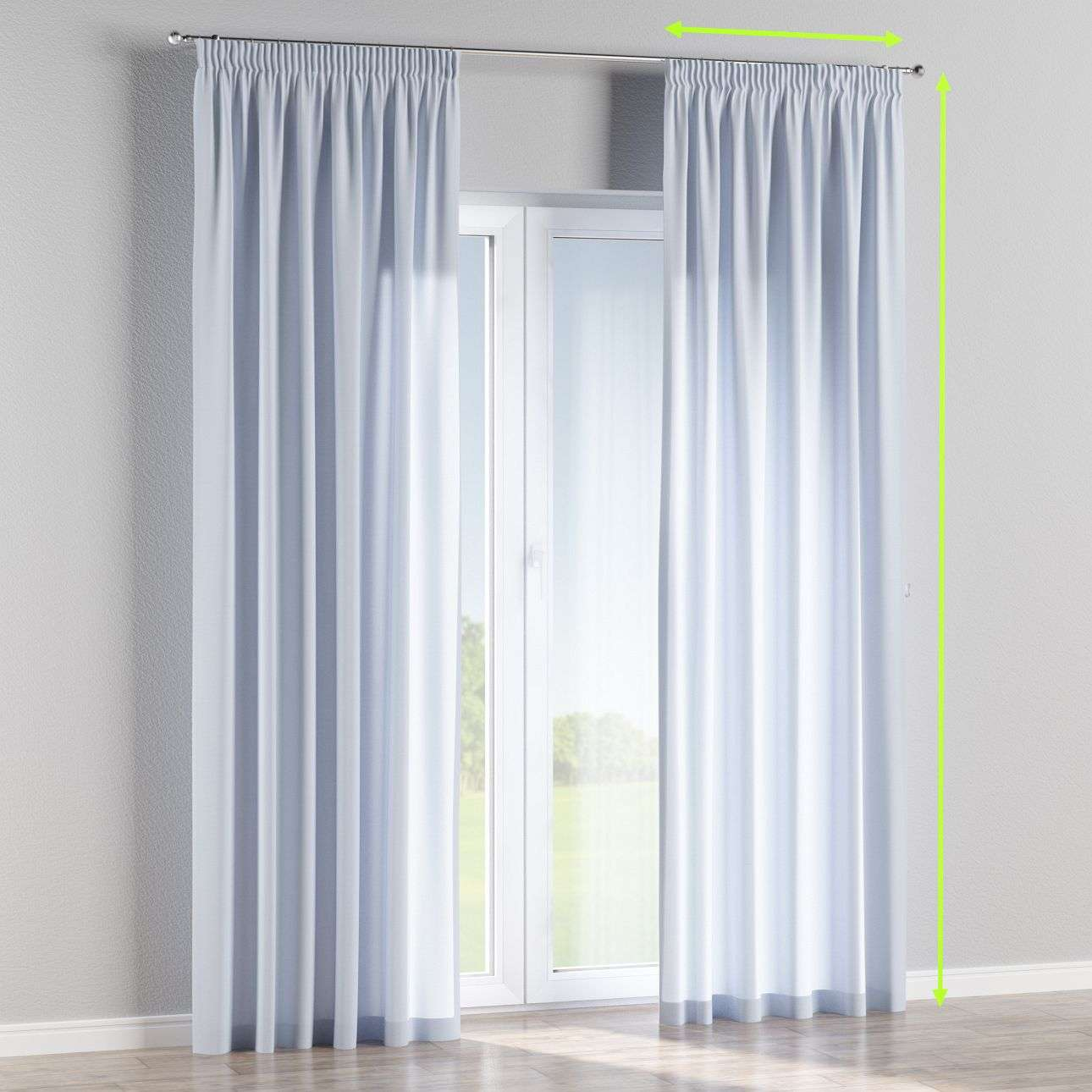 Pencil pleat lined curtains in collection Loneta , fabric: 133-35