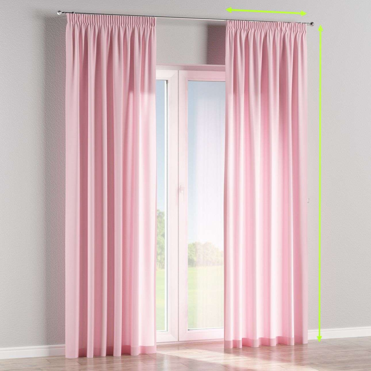 Pencil pleat lined curtains in collection Loneta , fabric: 133-36