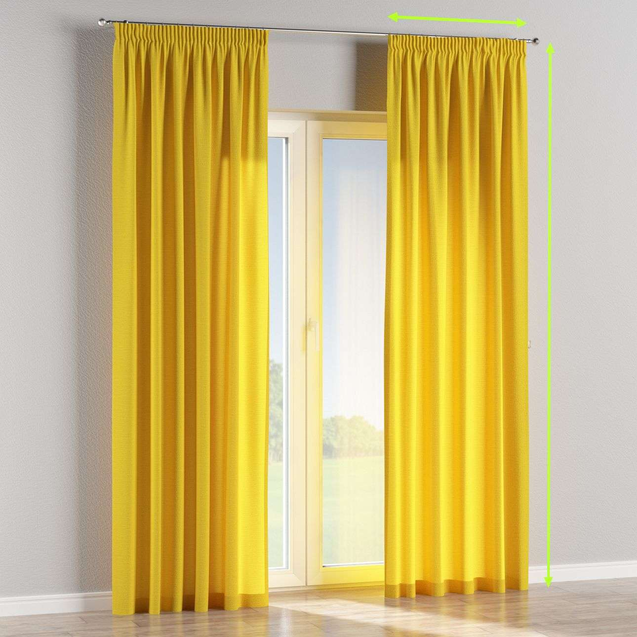 Pencil pleat lined curtains in collection Loneta , fabric: 133-55