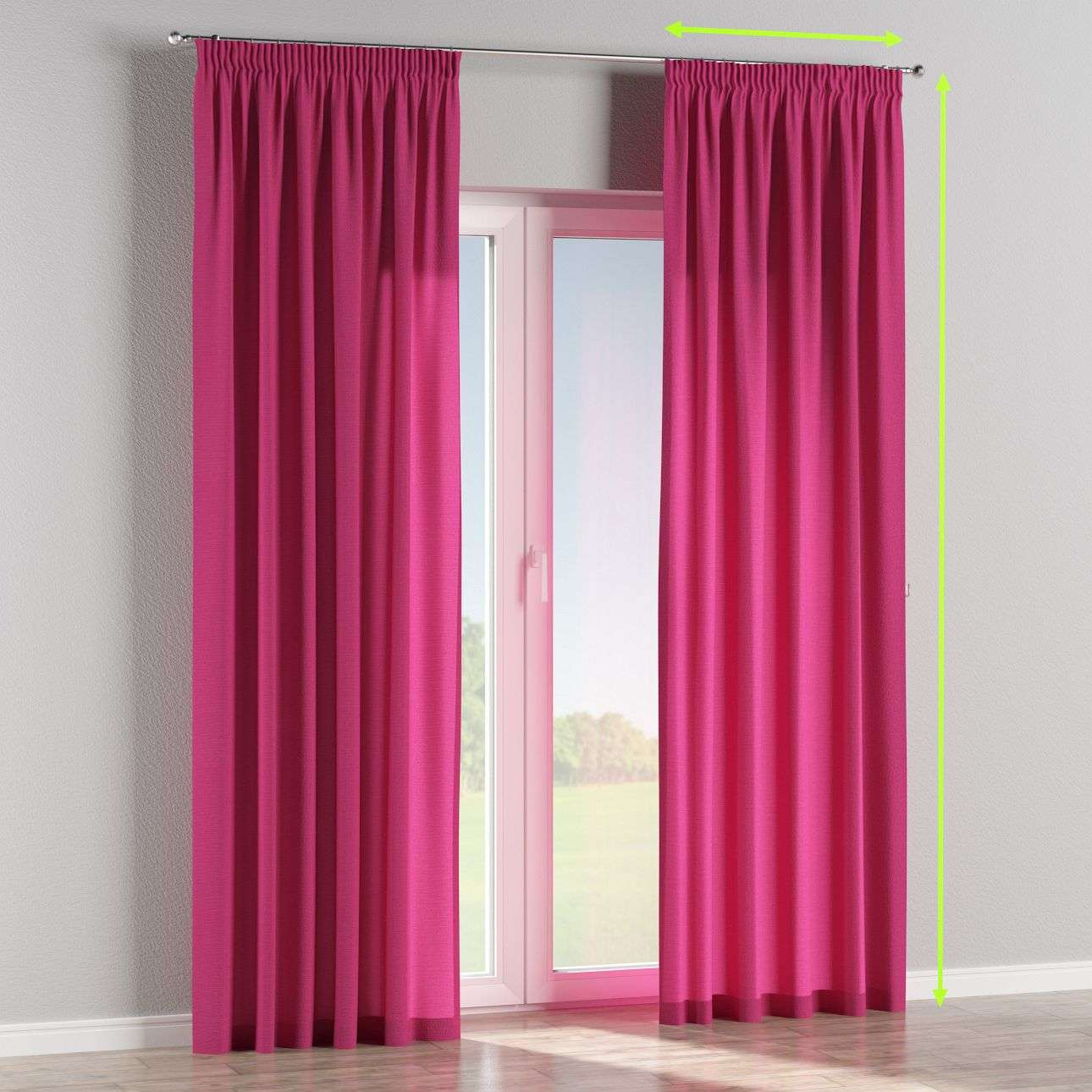 Pencil pleat lined curtains in collection Loneta , fabric: 133-60