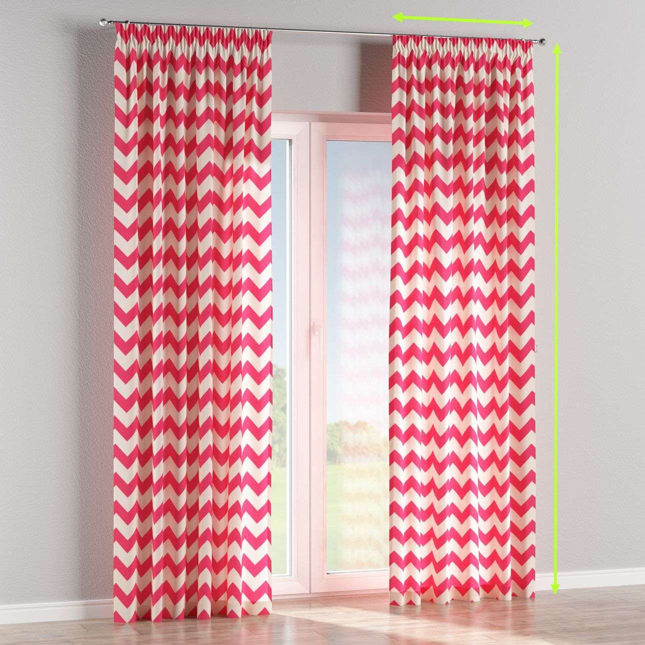 Pencil pleat lined curtains in collection Comic Book & Geo Prints, fabric: 135-00