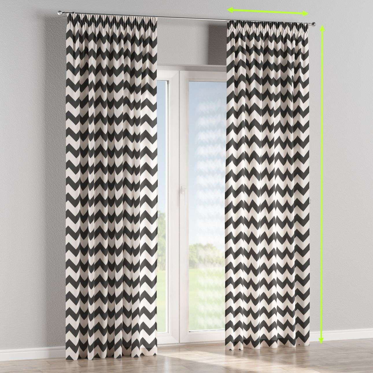 Pencil pleat lined curtains in collection Comic Book & Geo Prints, fabric: 135-02