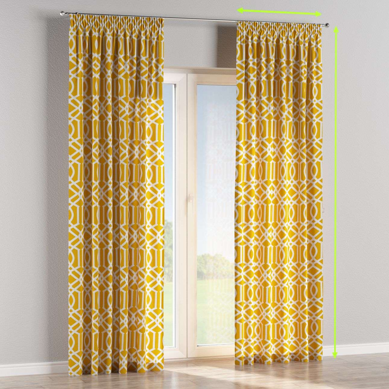 Pencil pleat lined curtains in collection Comics/Geometrical, fabric: 135-09