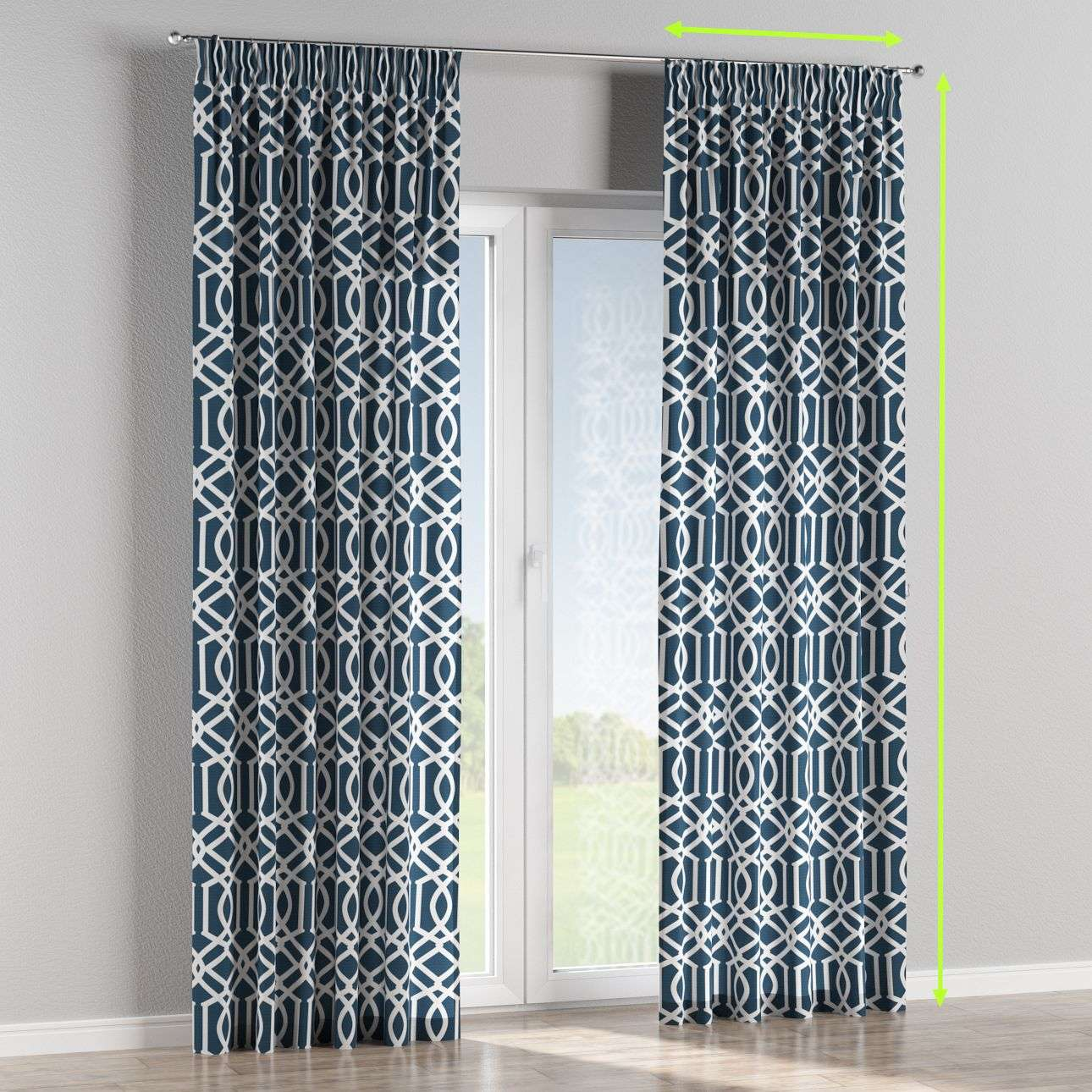 Pencil pleat lined curtains in collection Comics/Geometrical, fabric: 135-10