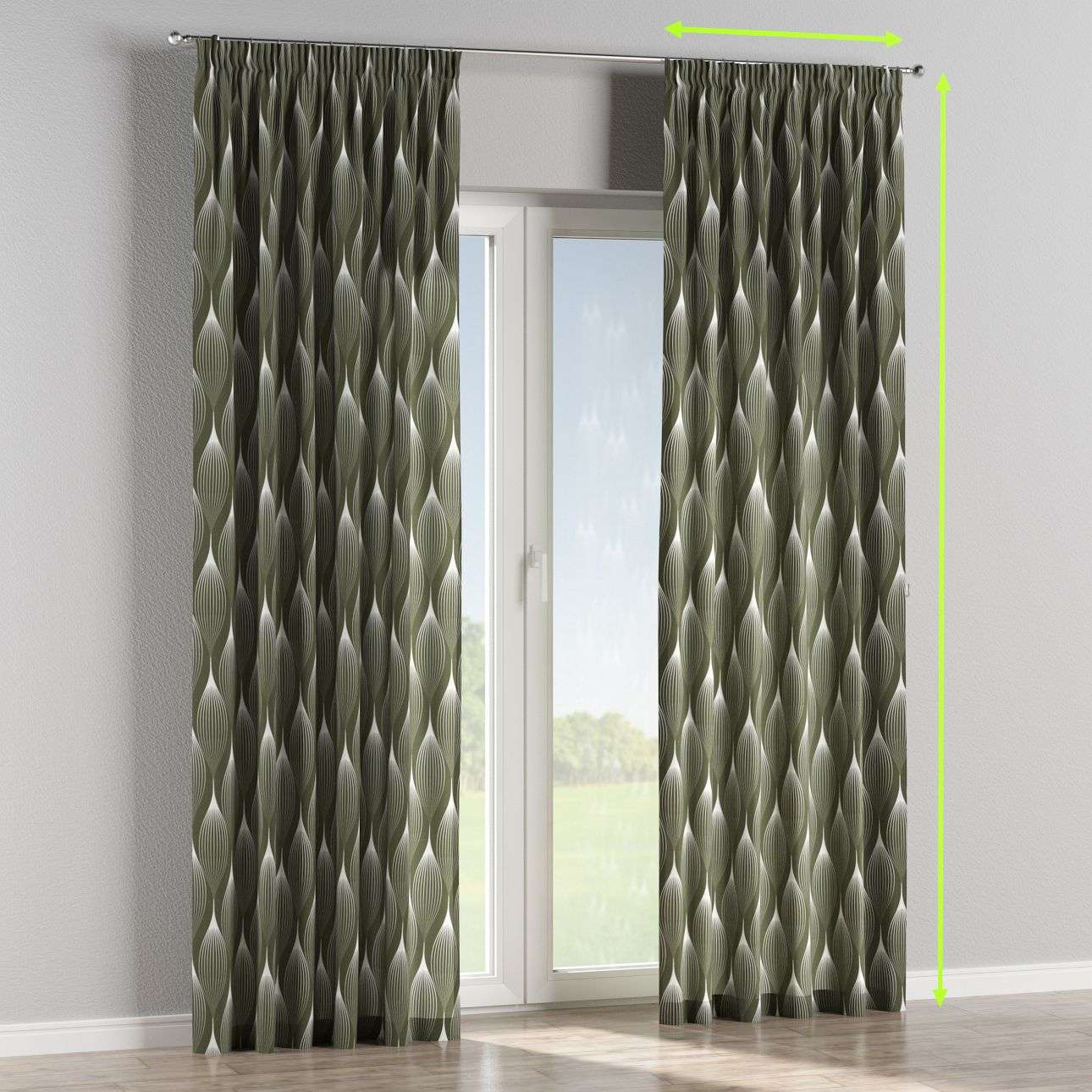 Pencil pleat lined curtains in collection Comic Book & Geo Prints, fabric: 135-20