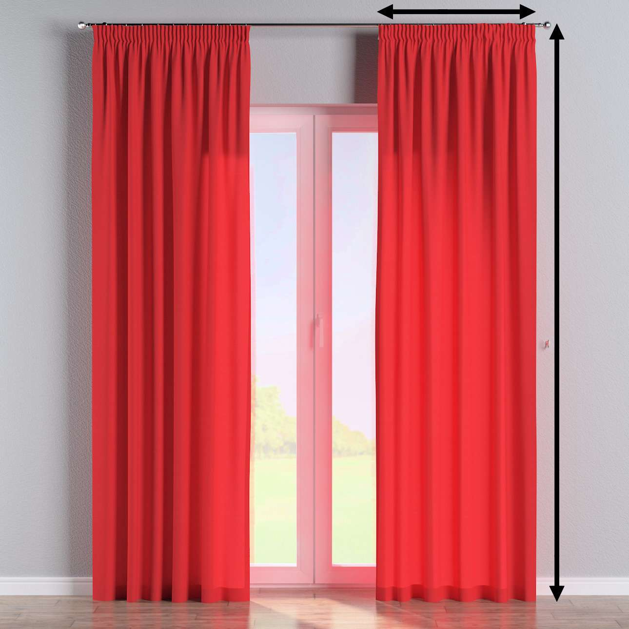 Pencil pleat lined curtains in collection Loneta , fabric: 133-43