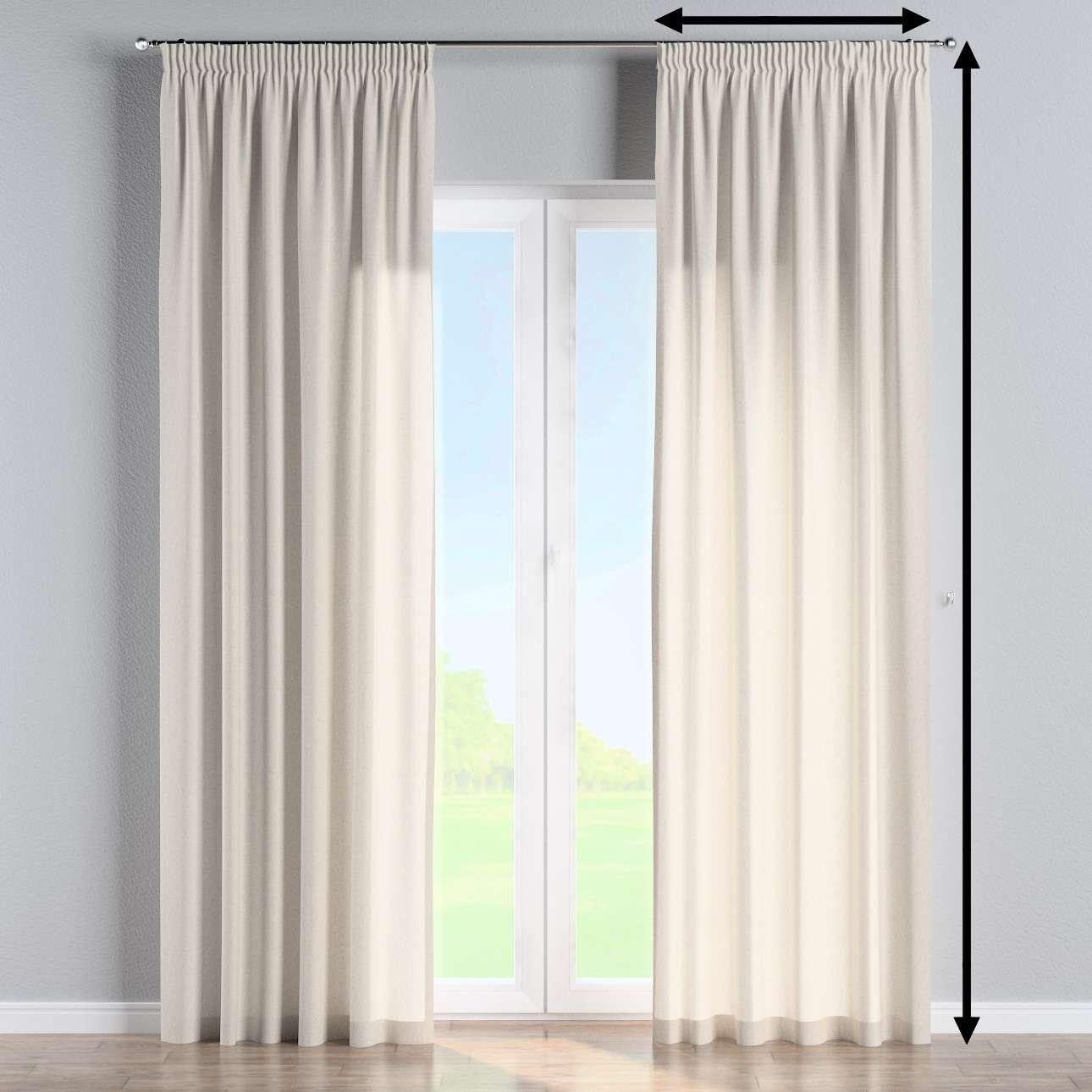 Gefütterter Vorhang mit Kräuselband von der Kollektion Loneta, Stoff: 133-65