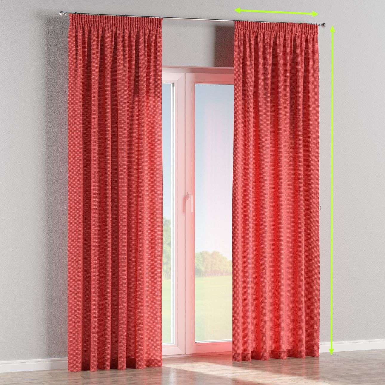 Pencil pleat lined curtains in collection Ashley, fabric: 137-50