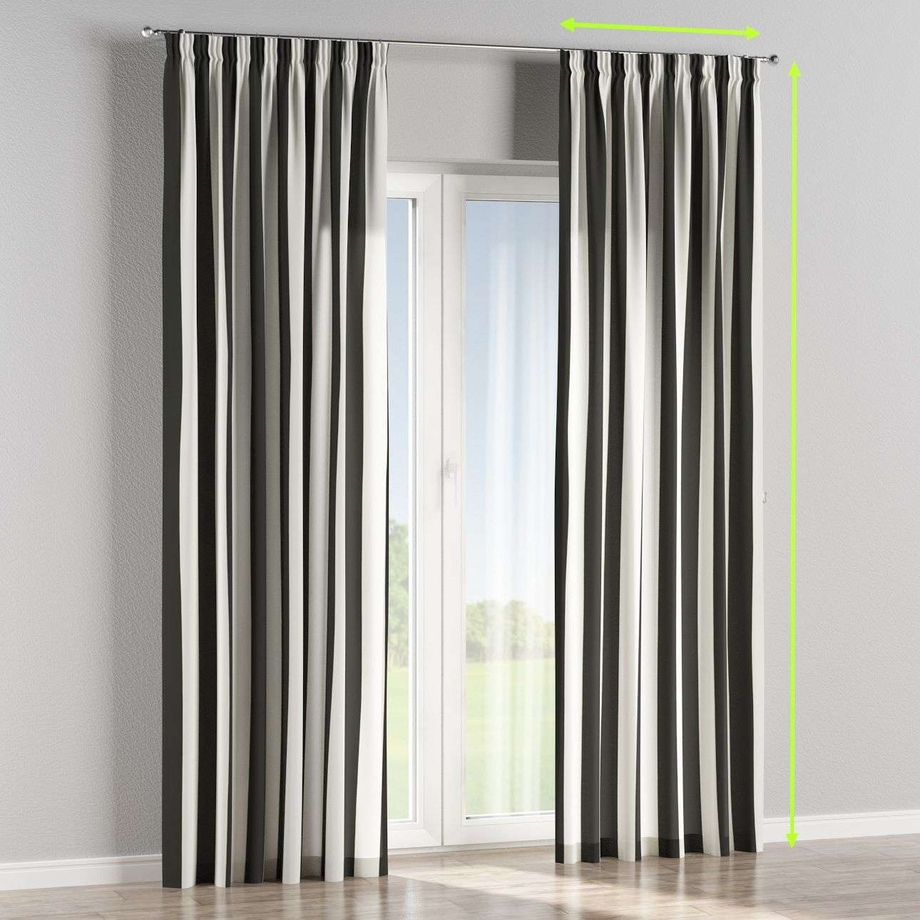 Pencil pleat lined curtains in collection Comic Book & Geo Prints, fabric: 137-53
