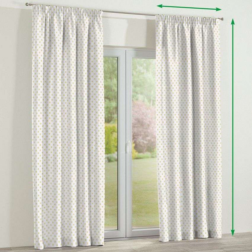 Pencil pleat lined curtains in collection Ashley, fabric: 137-65