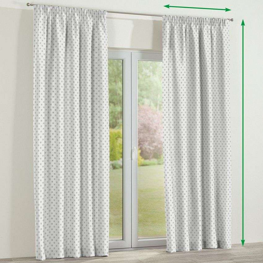 Pencil pleat lined curtains in collection Ashley, fabric: 137-68