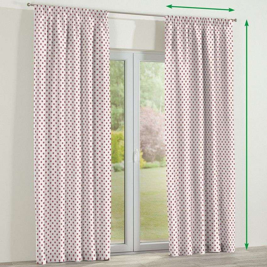 Pencil pleat lined curtains in collection Ashley, fabric: 137-70