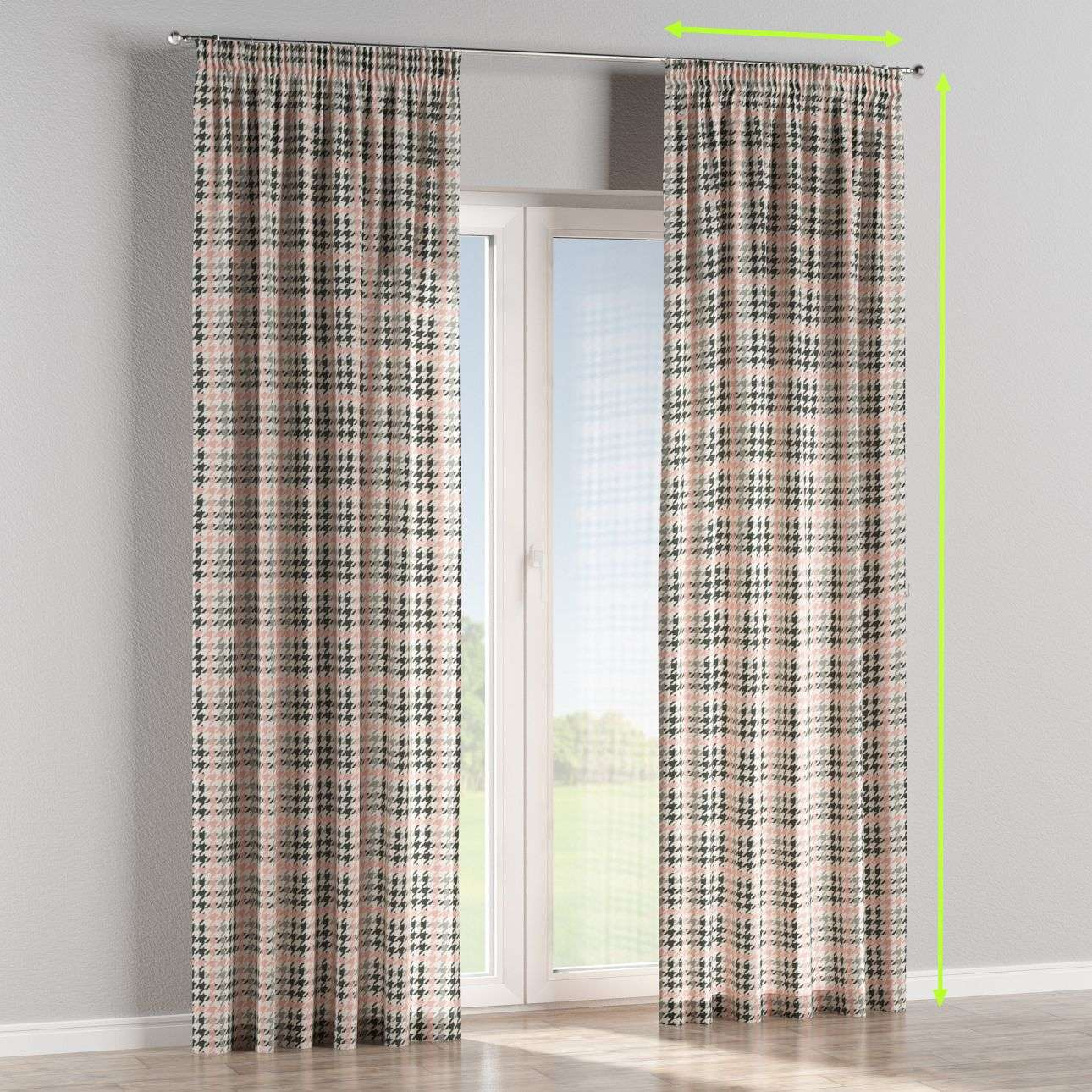 Pencil pleat lined curtains in collection Brooklyn, fabric: 137-75