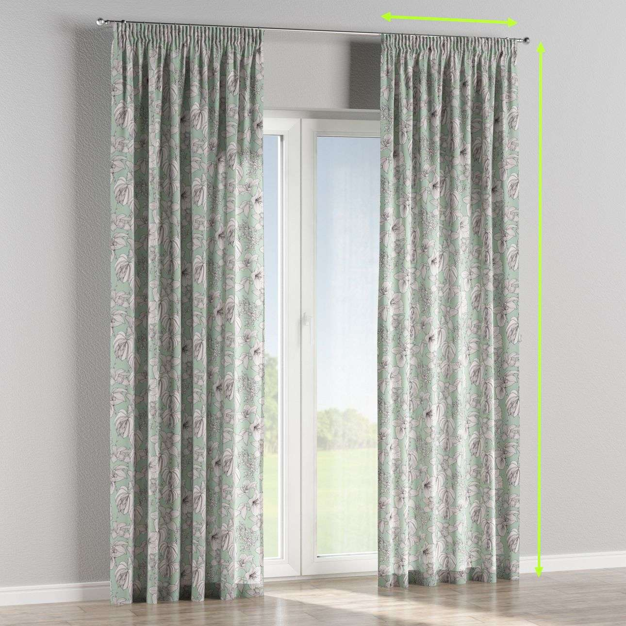Pencil pleat lined curtains in collection Brooklyn, fabric: 137-76