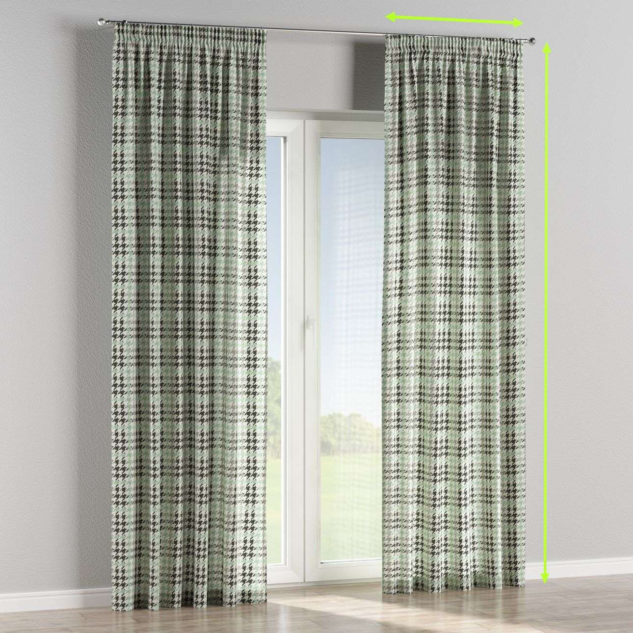 Pencil pleat lined curtains in collection Brooklyn, fabric: 137-77