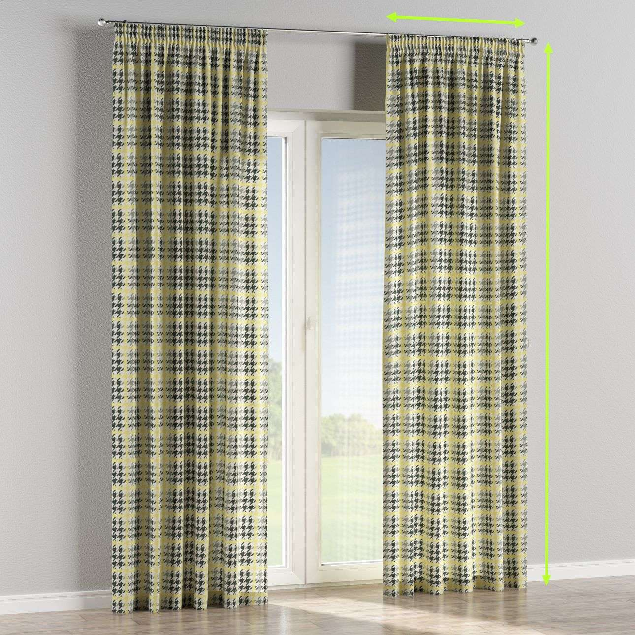 Pencil pleat lined curtains in collection Brooklyn, fabric: 137-79