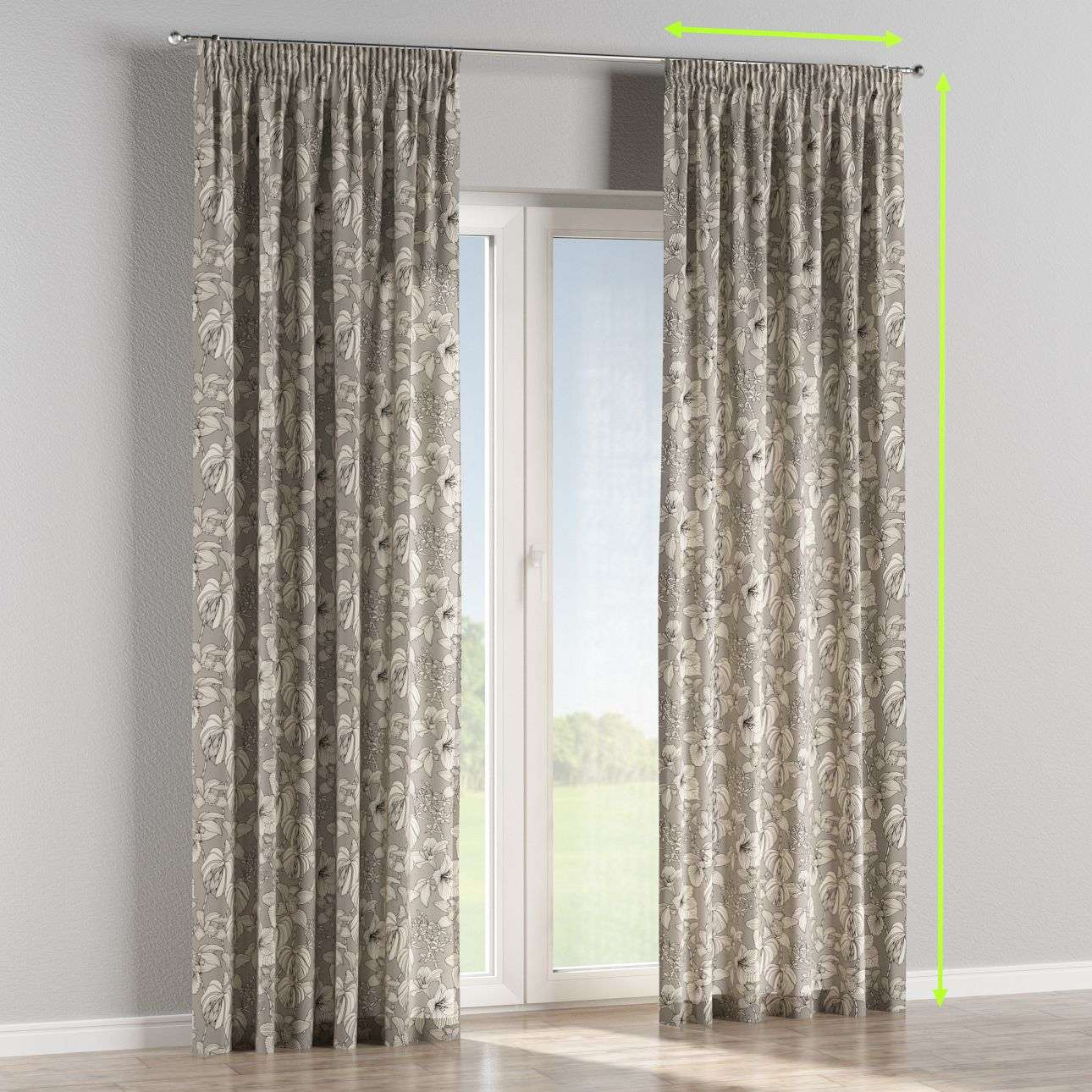Pencil pleat lined curtains in collection Brooklyn, fabric: 137-80