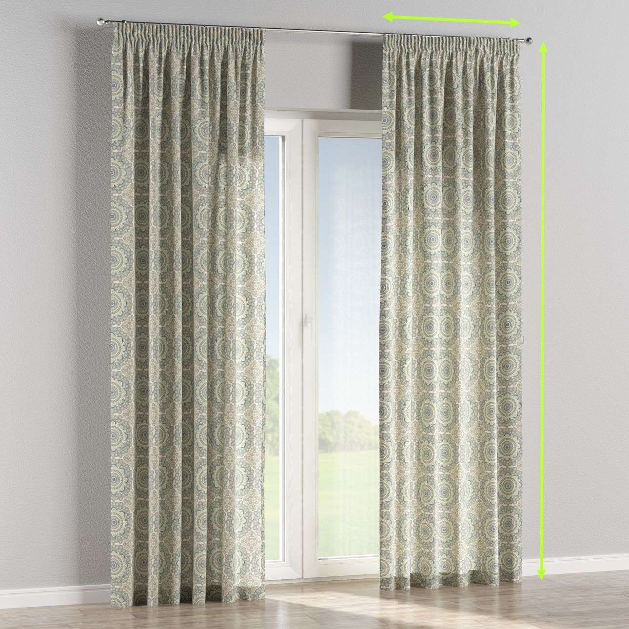 Pencil pleat lined curtains in collection Comic Book & Geo Prints, fabric: 137-84