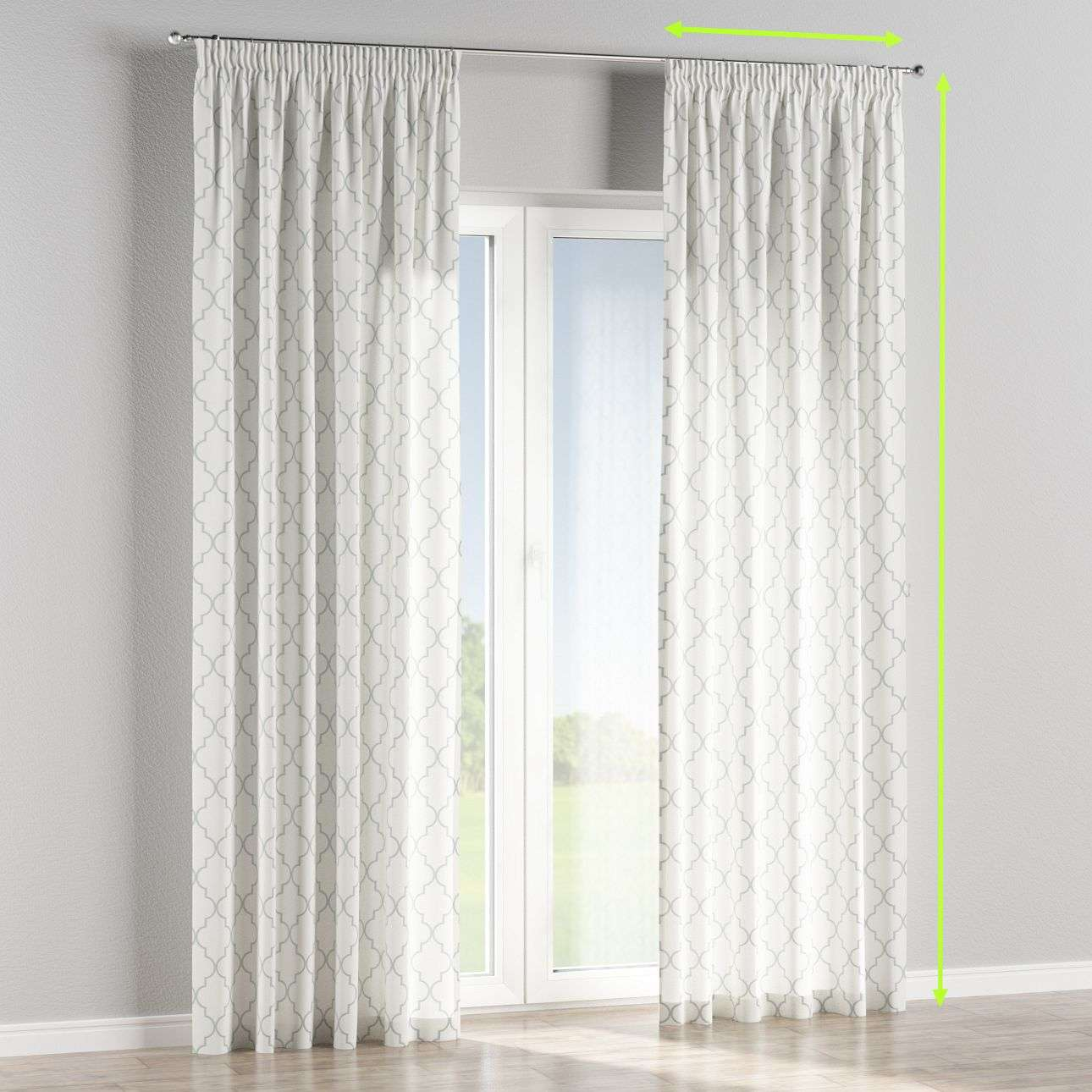 Pencil pleat lined curtains in collection Comic Book & Geo Prints, fabric: 137-85