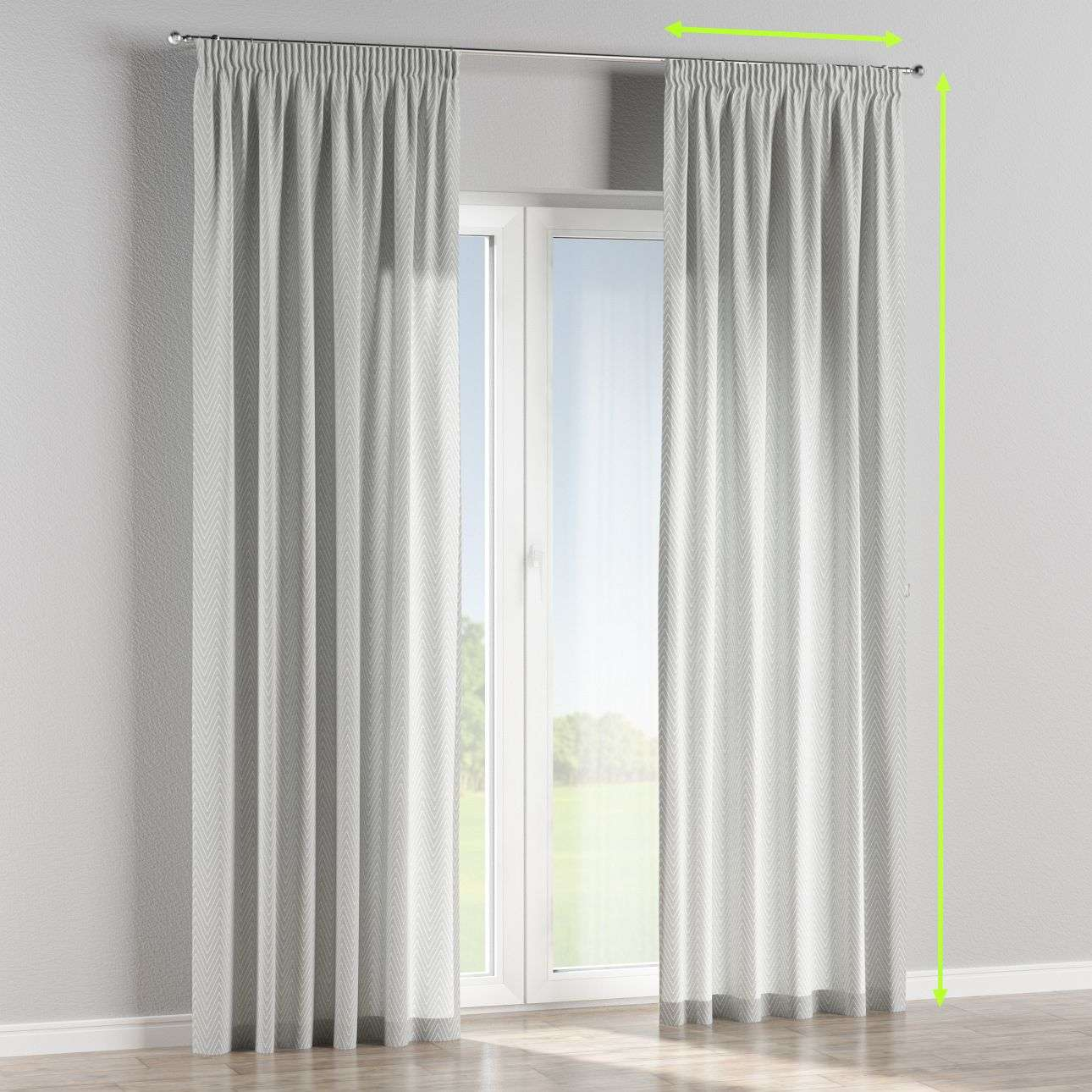 Pencil pleat lined curtains in collection Brooklyn, fabric: 137-87