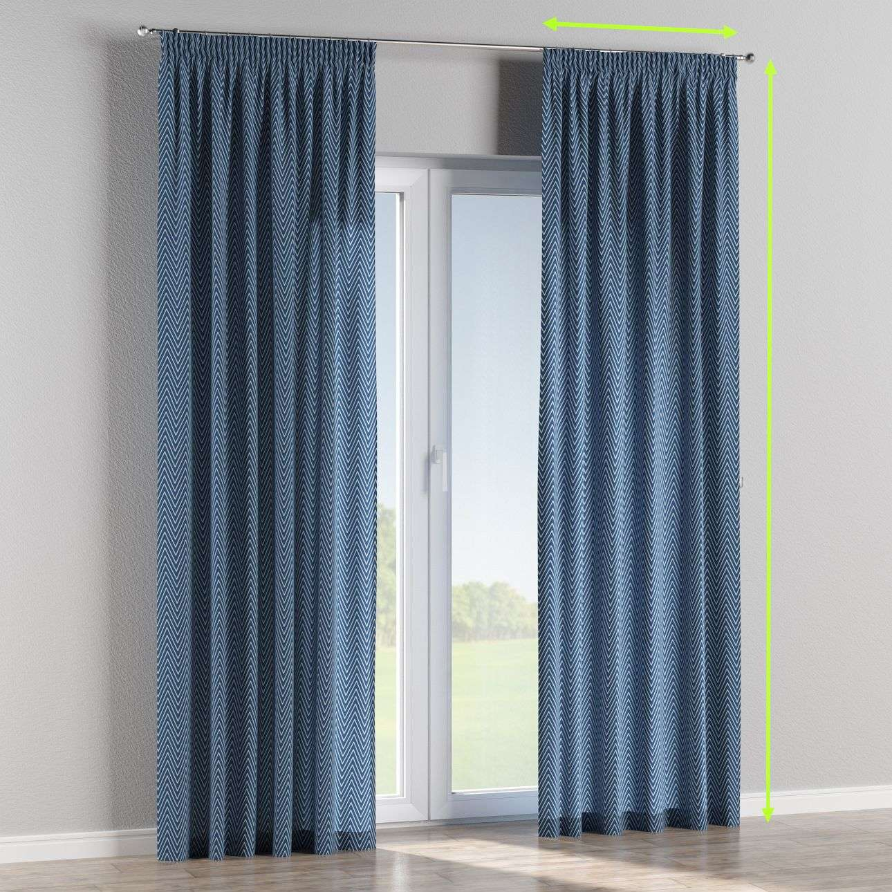 Pencil pleat lined curtains in collection Brooklyn, fabric: 137-88