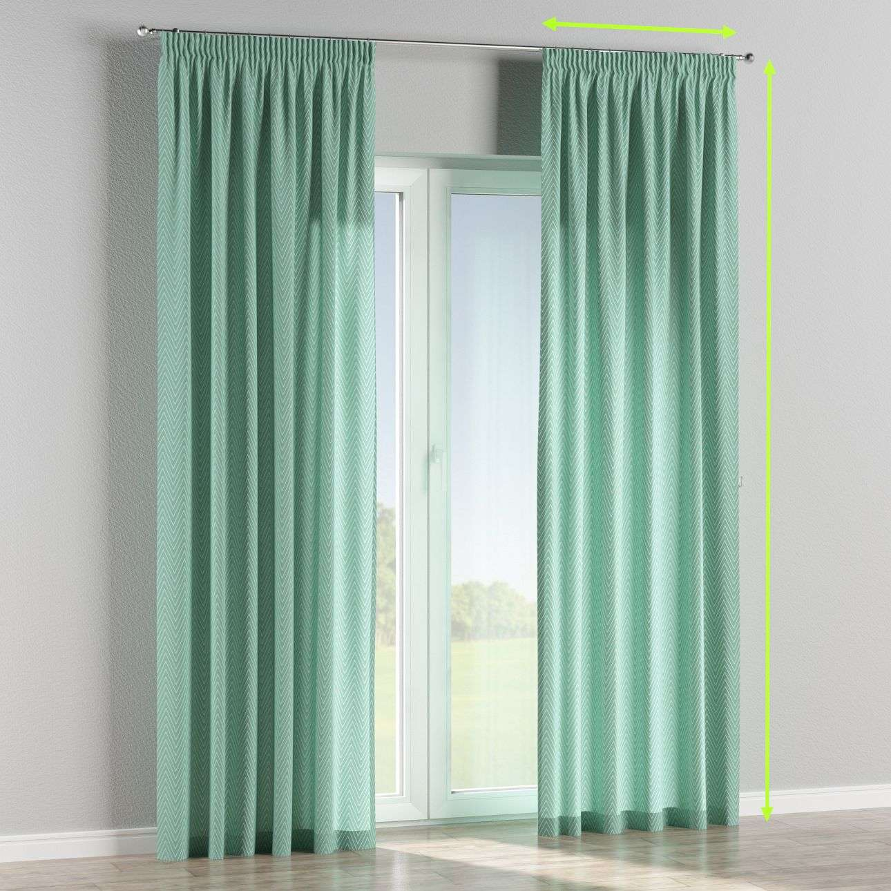 Pencil pleat lined curtains in collection Brooklyn, fabric: 137-90