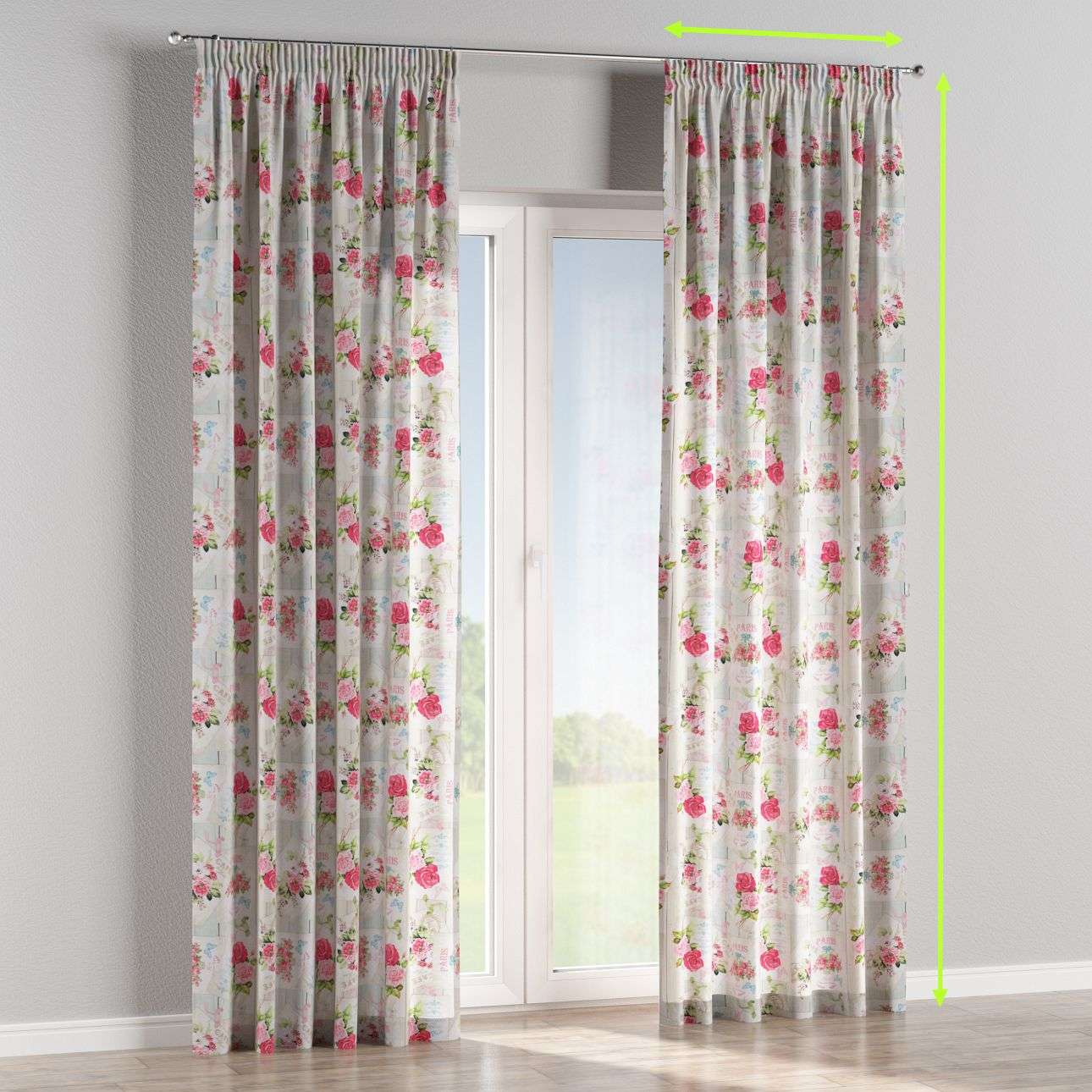 Pencil pleat lined curtains in collection Ashley, fabric: 140-19