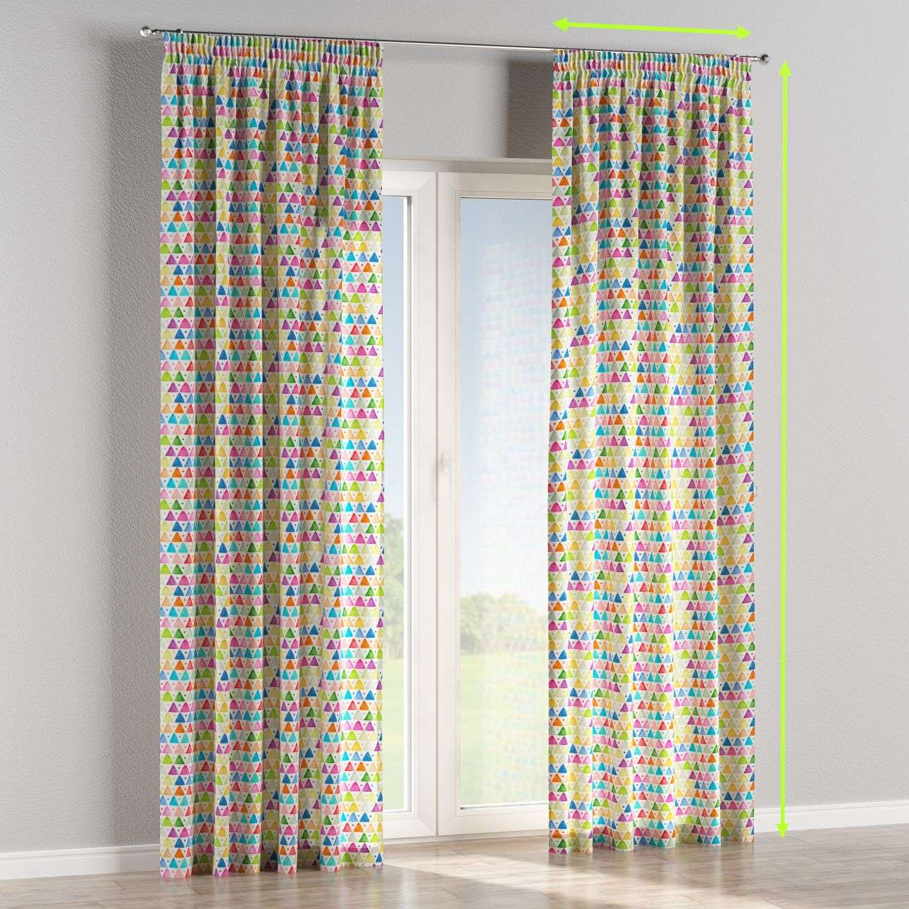 Pencil pleat lined curtains in collection New Art, fabric: 140-27