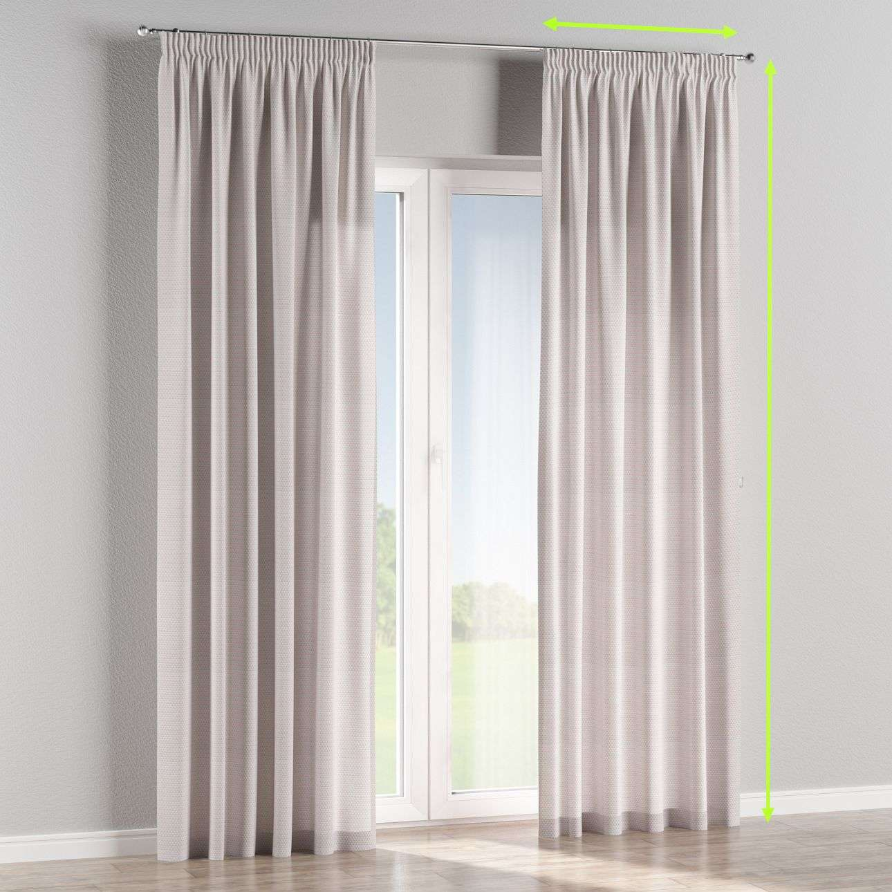 Pencil pleat lined curtains in collection Rustica, fabric: 140-28