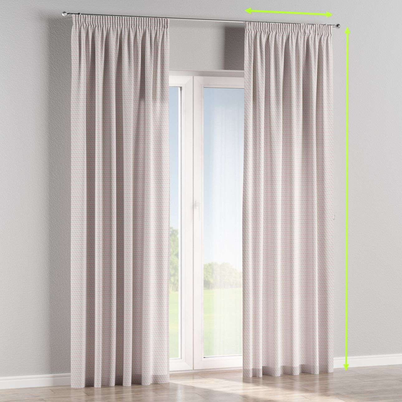 Pencil pleat lined curtains in collection Rustica, fabric: 140-30