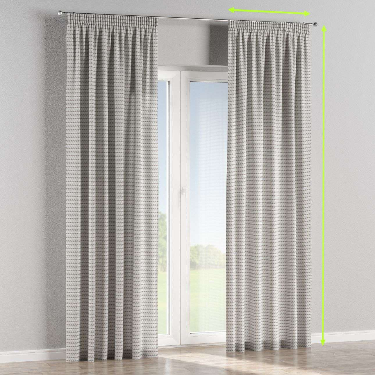 Pencil pleat lined curtains in collection Rustica, fabric: 140-33