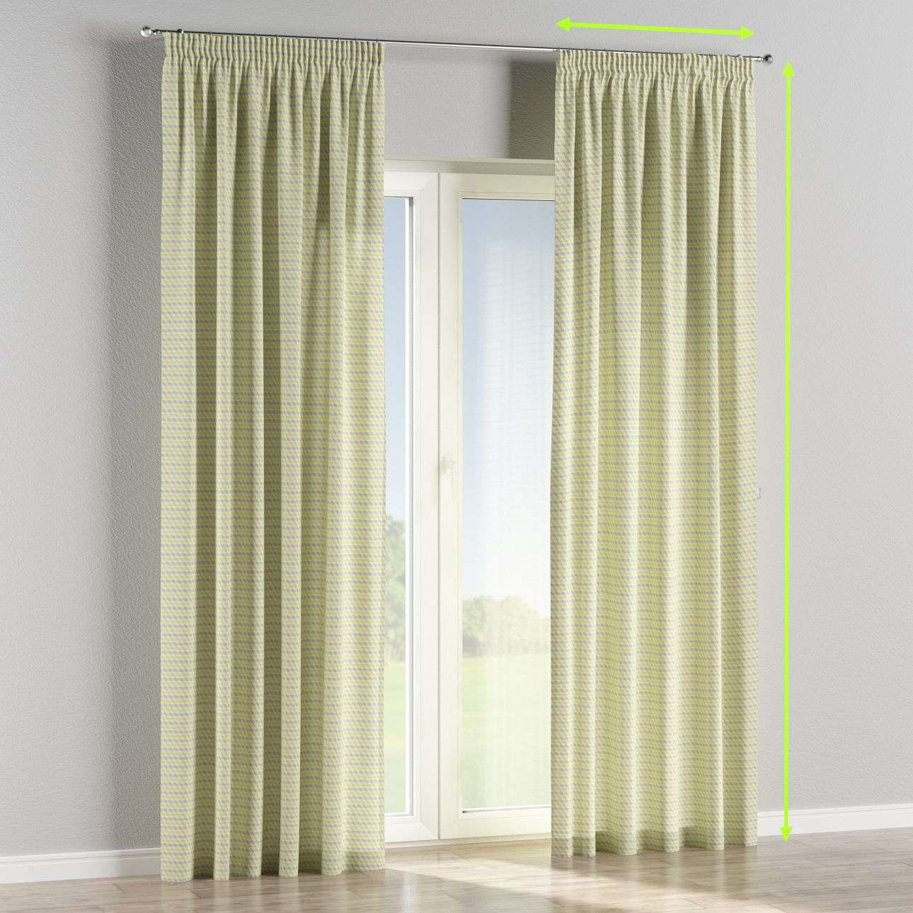 Pencil pleat lined curtains in collection Rustica, fabric: 140-36