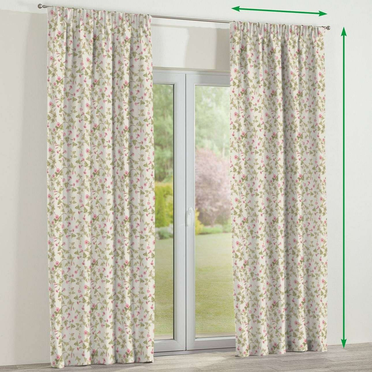 Pencil pleat lined curtains in collection Mirella, fabric: 140-41