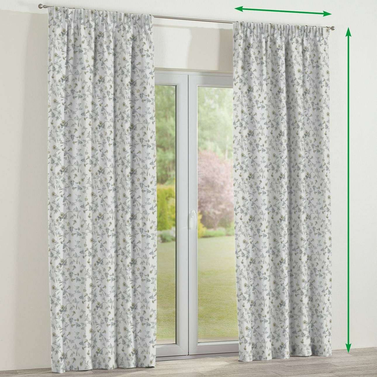 Pencil pleat lined curtains in collection Mirella, fabric: 140-42