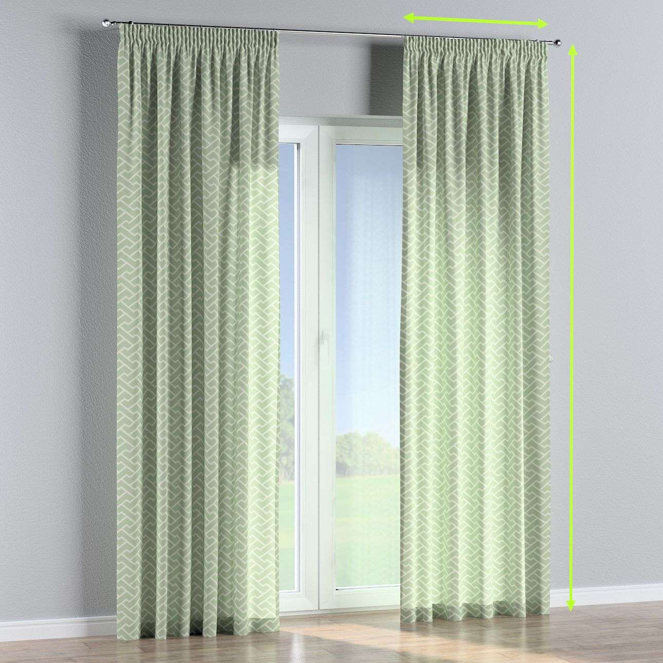 Pencil pleat lined curtains in collection Comics/Geometrical, fabric: 141-63