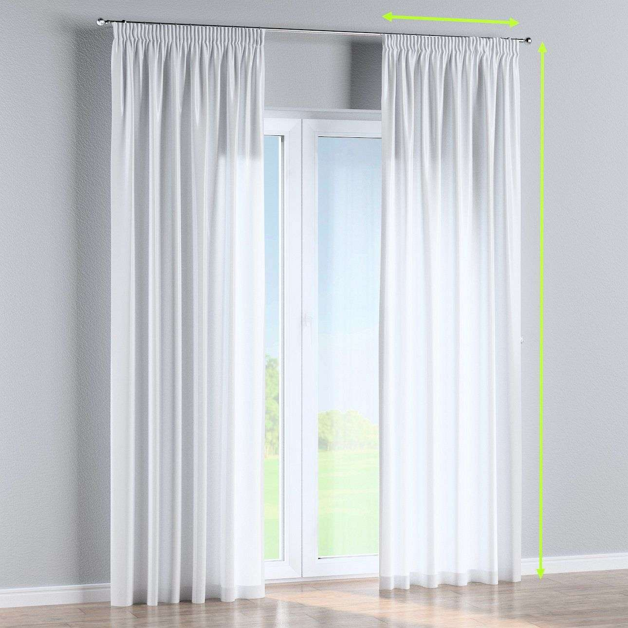 Pencil pleat lined curtains in collection Damasco, fabric: 141-78